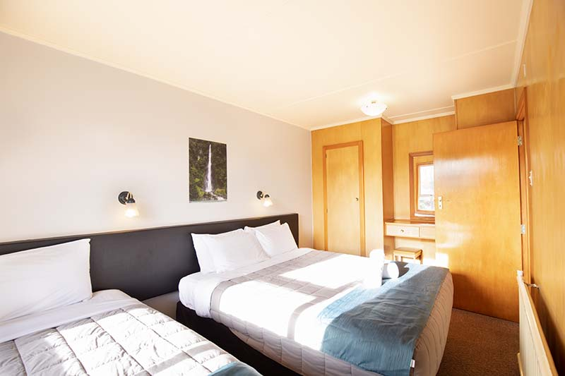 large group hotel room in Te Anau